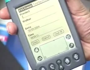 ALLERT uses PDAs equipped with barcode scanners to quickly record volunteer activity