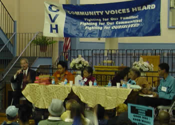 A candidate forum hosted by Community Voices Heard earned their project some media